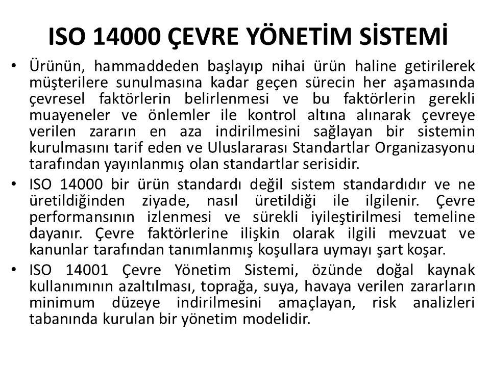 ISO 14000 ÇEVRE YÖNETİM SİSTEMİ