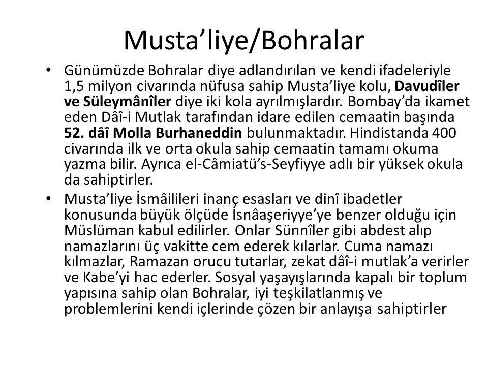 Musta'liye/Bohralar