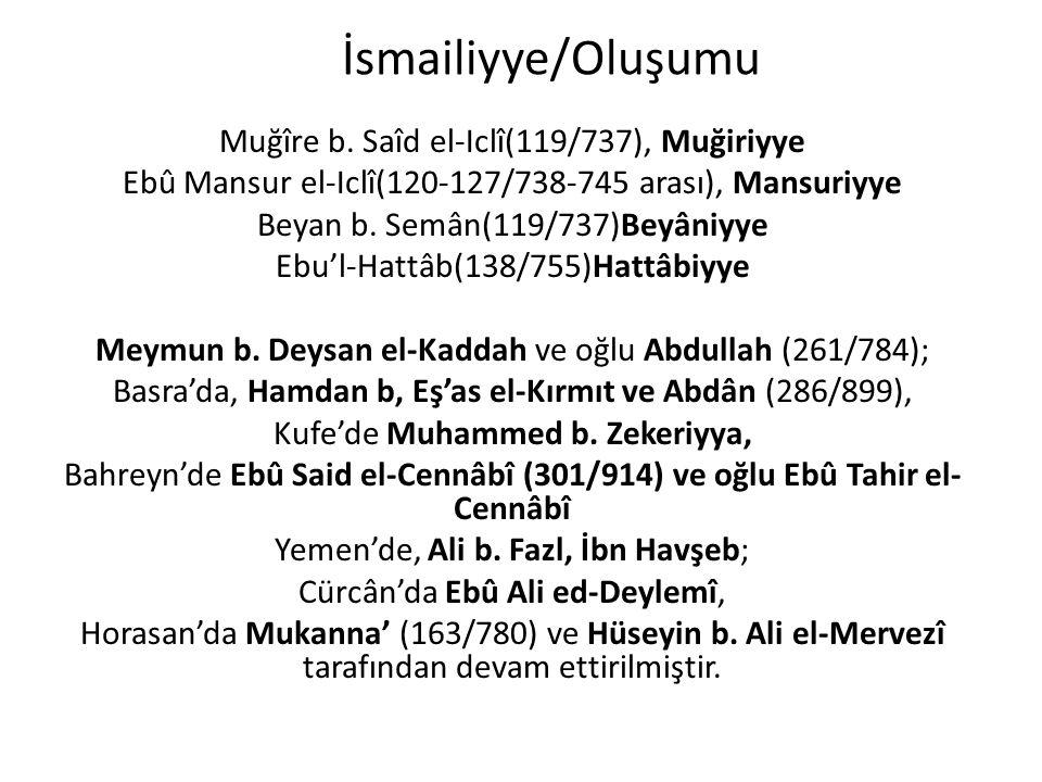 İsmailiyye/Oluşumu Muğîre b. Saîd el-Iclî(119/737), Muğiriyye