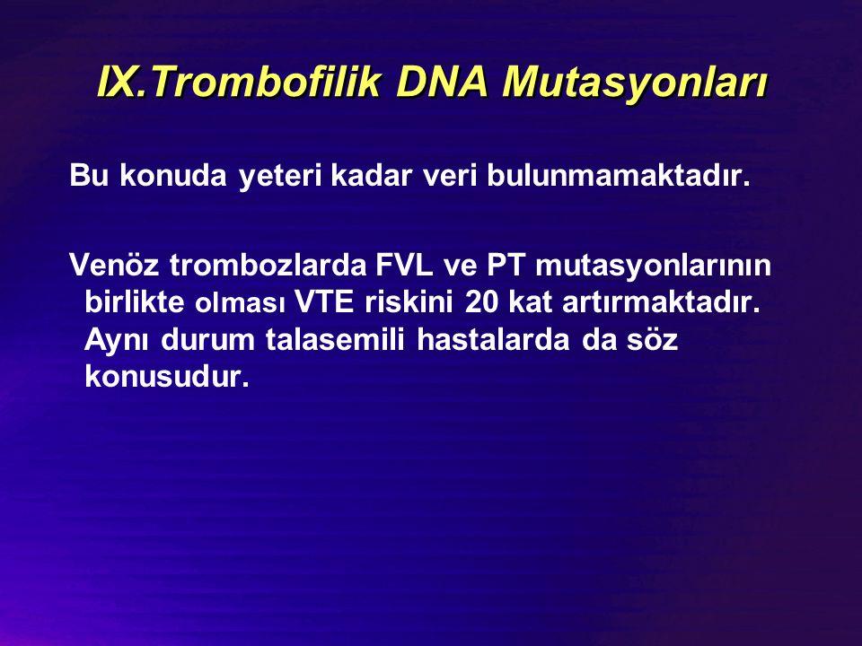 IX.Trombofilik DNA Mutasyonları