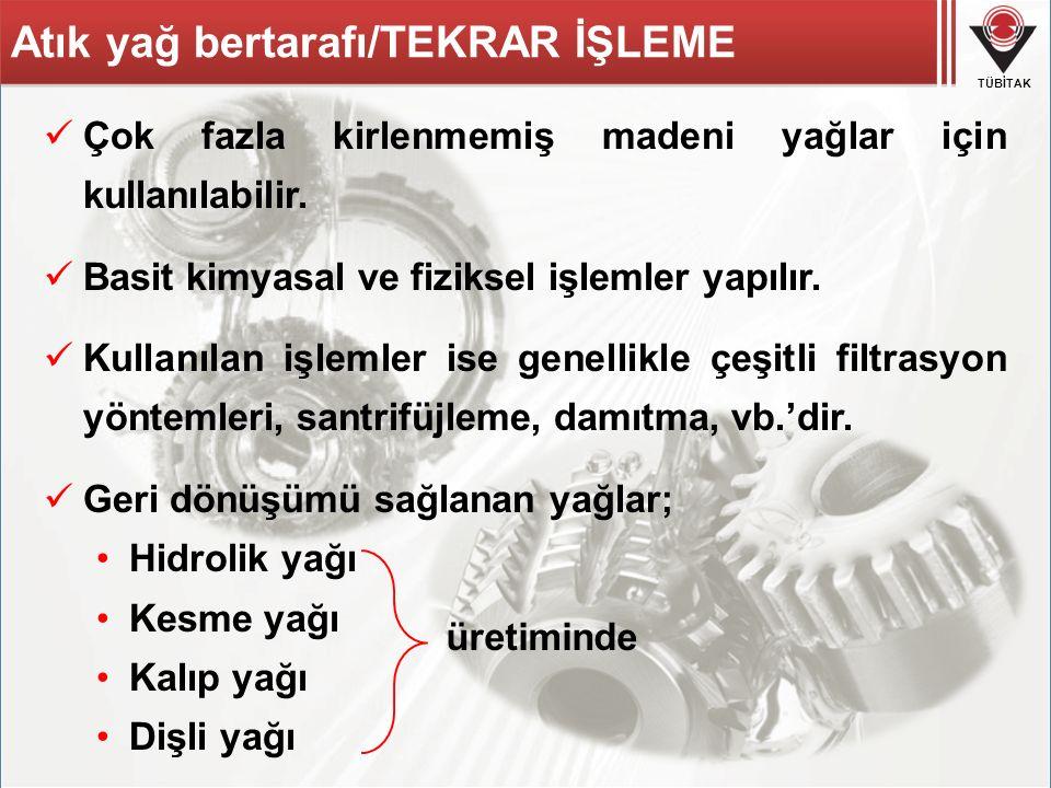 Atık yağ bertarafı/TEKRAR İŞLEME