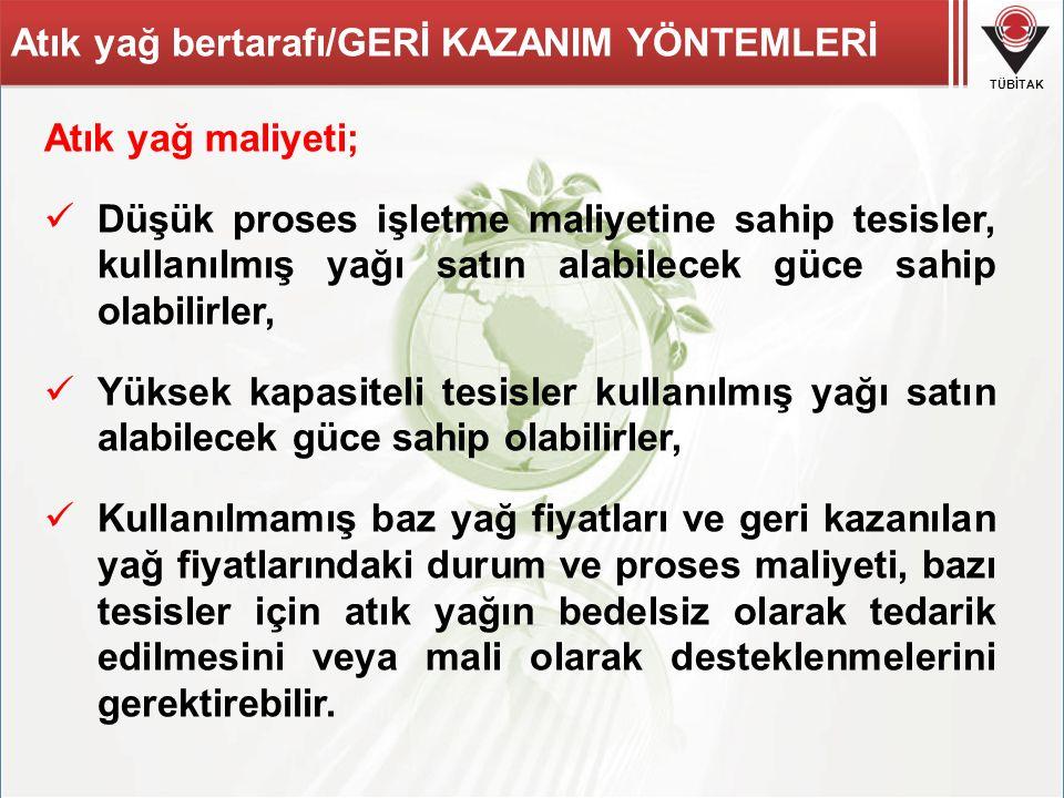 Atık yağ bertarafı/GERİ KAZANIM YÖNTEMLERİ