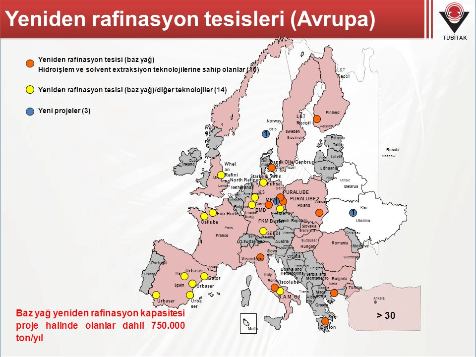 Yeniden rafinasyon tesisleri (Avrupa)