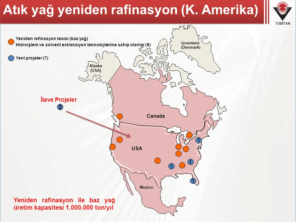 Atık yağ yeniden rafinasyon (K. Amerika)