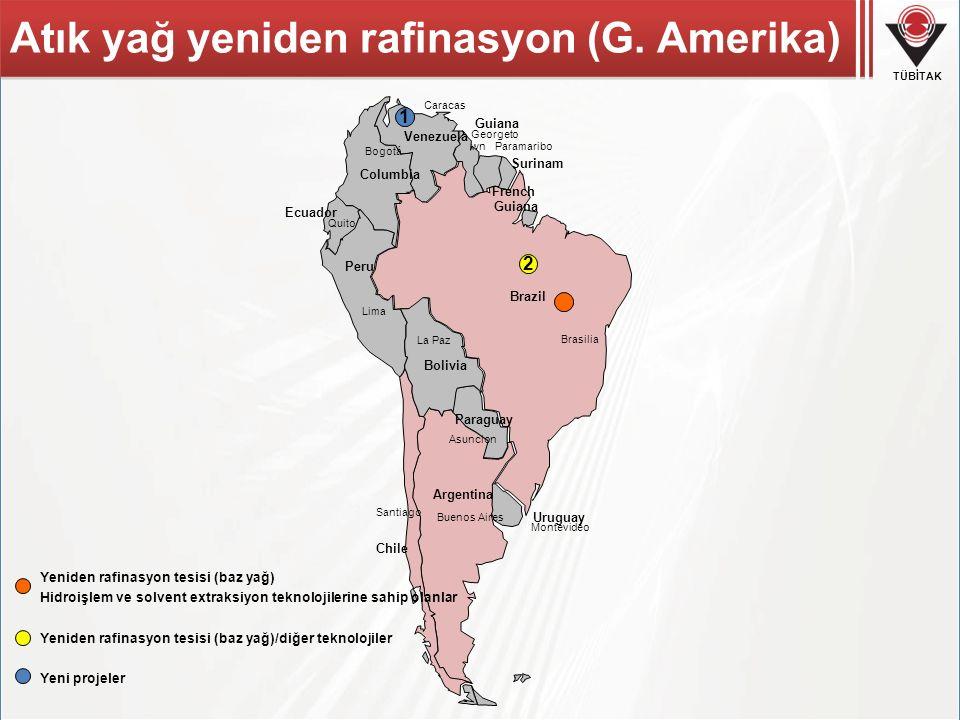 Atık yağ yeniden rafinasyon (G. Amerika)