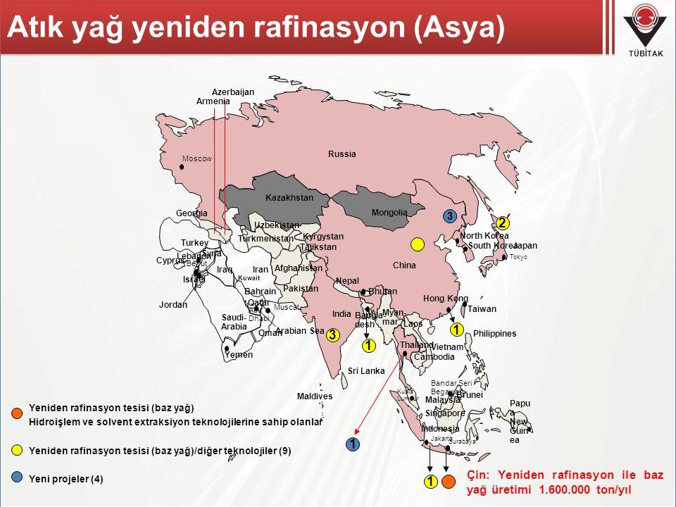 Atık yağ yeniden rafinasyon (Asya)