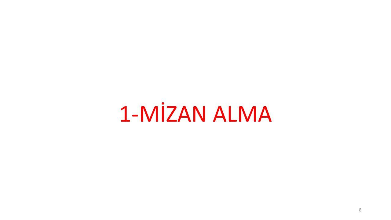1-MİZAN ALMA