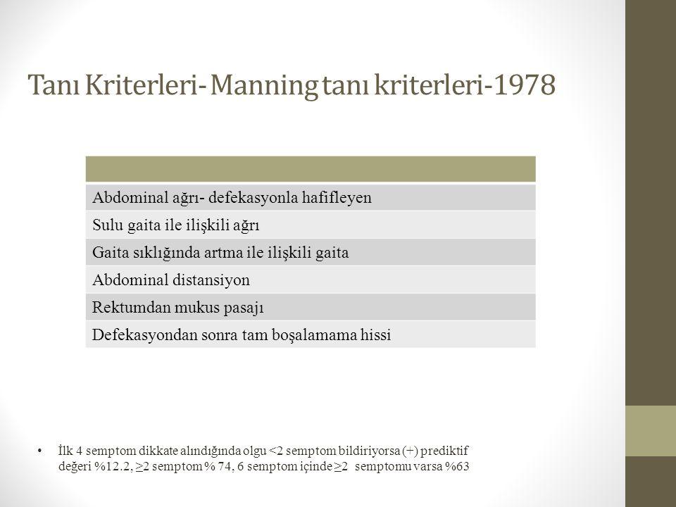 Tanı Kriterleri- Manning tanı kriterleri-1978