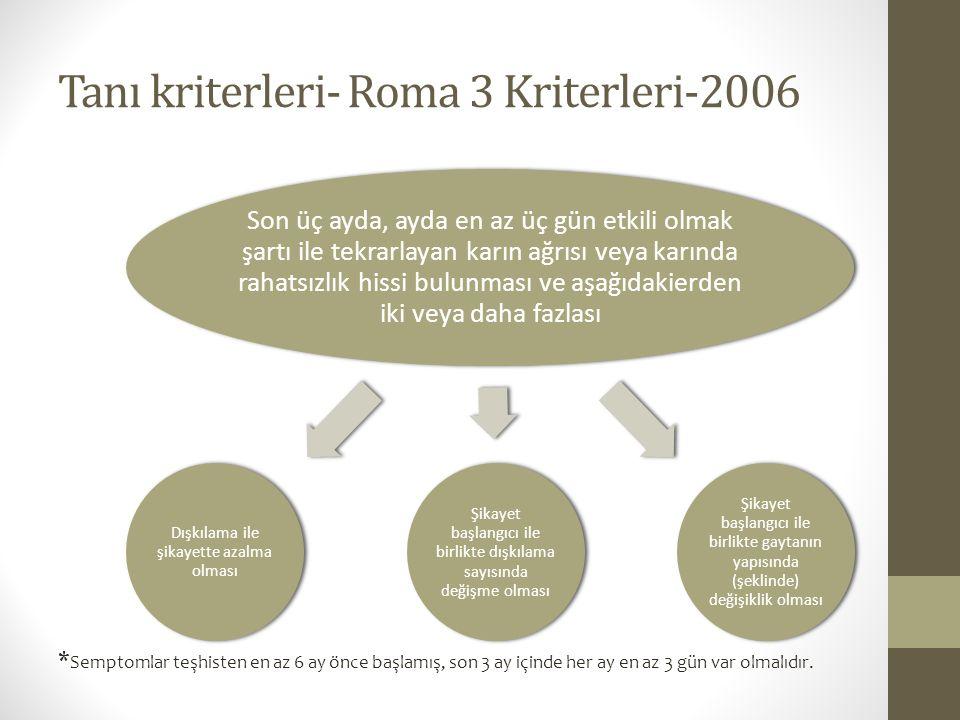 Tanı kriterleri- Roma 3 Kriterleri-2006