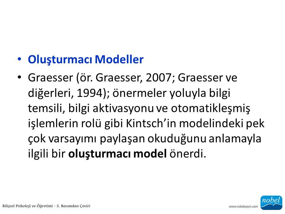 Oluşturmacı Modeller