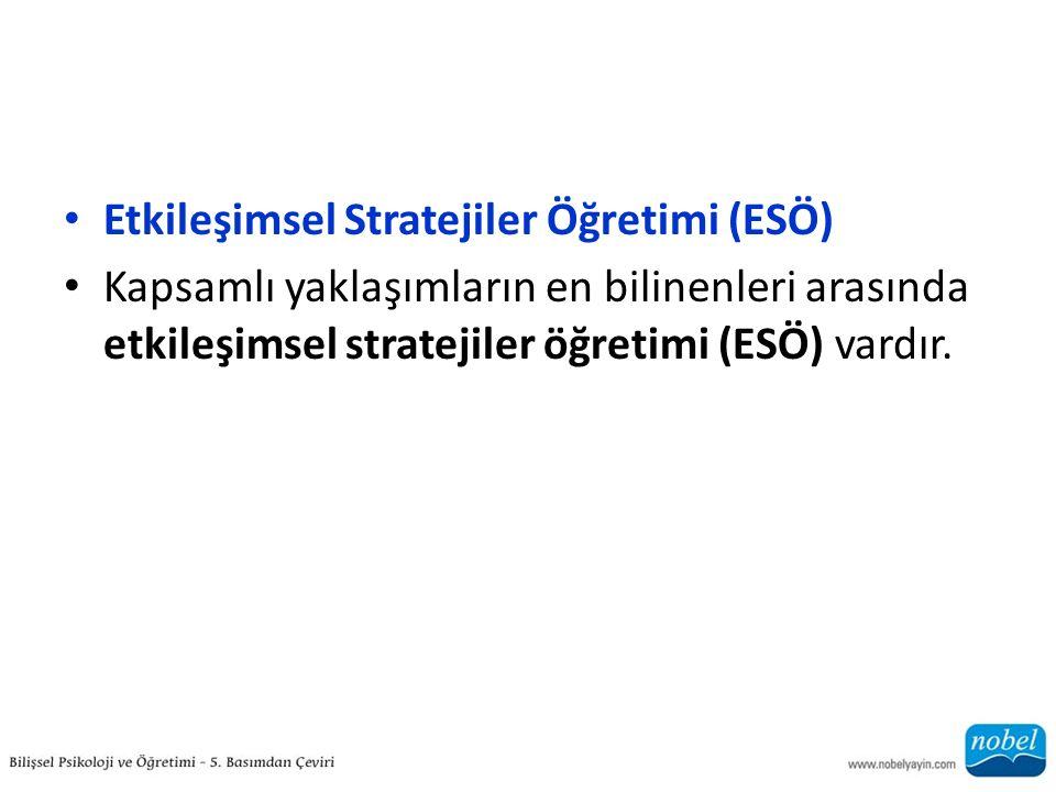 Etkileşimsel Stratejiler Öğretimi (ESÖ)