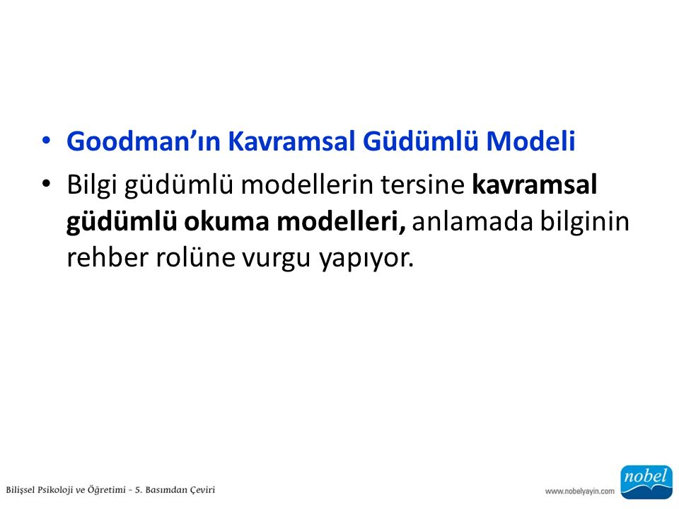 Goodman'ın Kavramsal Güdümlü Modeli