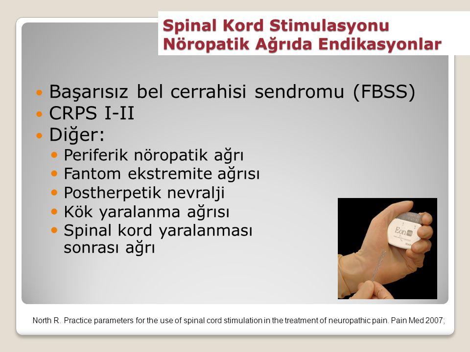 Spinal Kord Stimulasyonu Nöropatik Ağrıda Endikasyonlar