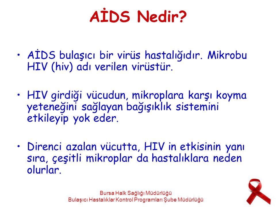 AİDS Nedir AİDS bulaşıcı bir virüs hastalığıdır. Mikrobu HIV (hiv) adı verilen virüstür.