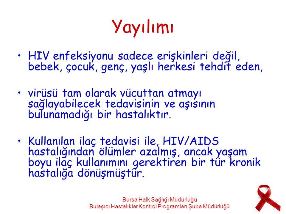 Yayılımı HIV enfeksiyonu sadece erişkinleri değil, bebek, çocuk, genç, yaşlı herkesi tehdit eden,