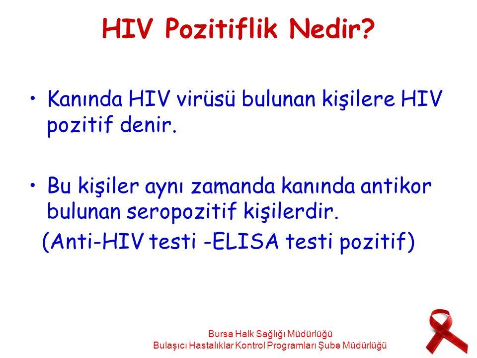 HIV Pozitiflik Nedir Kanında HIV virüsü bulunan kişilere HIV pozitif denir. Bu kişiler aynı zamanda kanında antikor bulunan seropozitif kişilerdir.