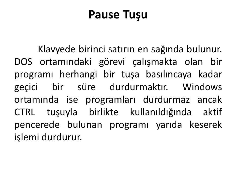 Pause Tuşu