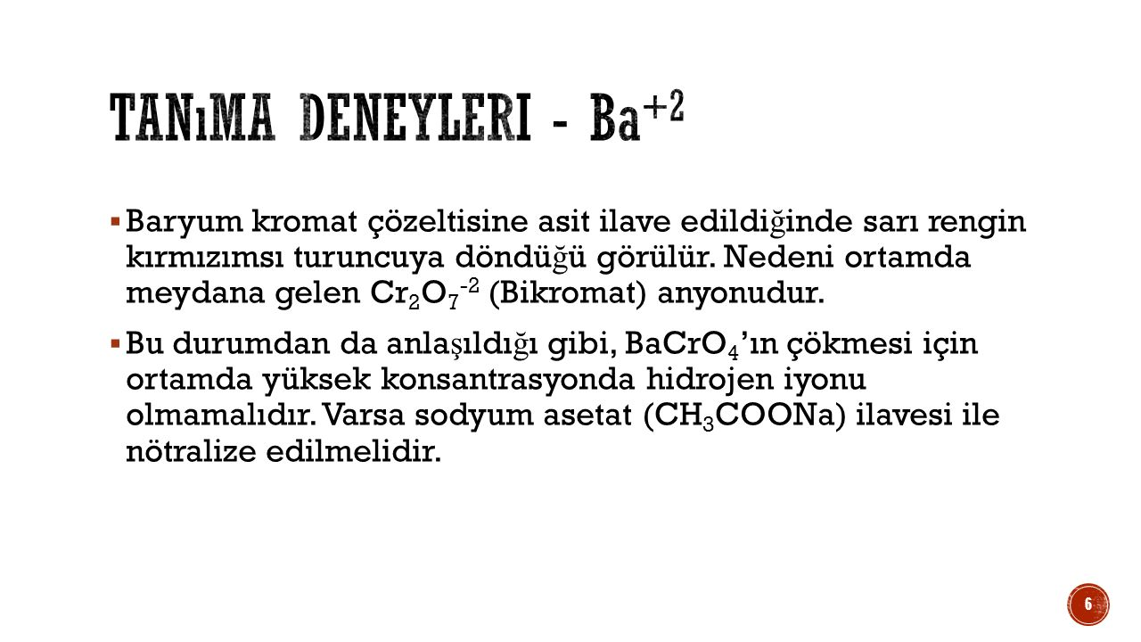 Tanıma deneyleri - Ba+2