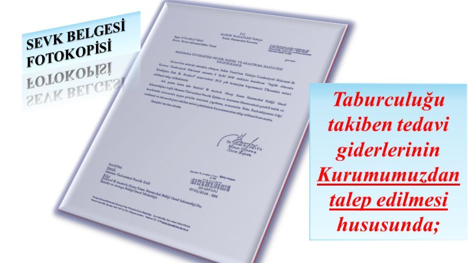 SEVK BELGESİ FOTOKOPİSİ
