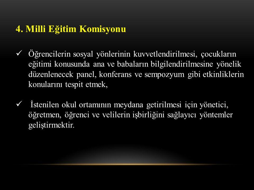 4. Milli Eğitim Komisyonu