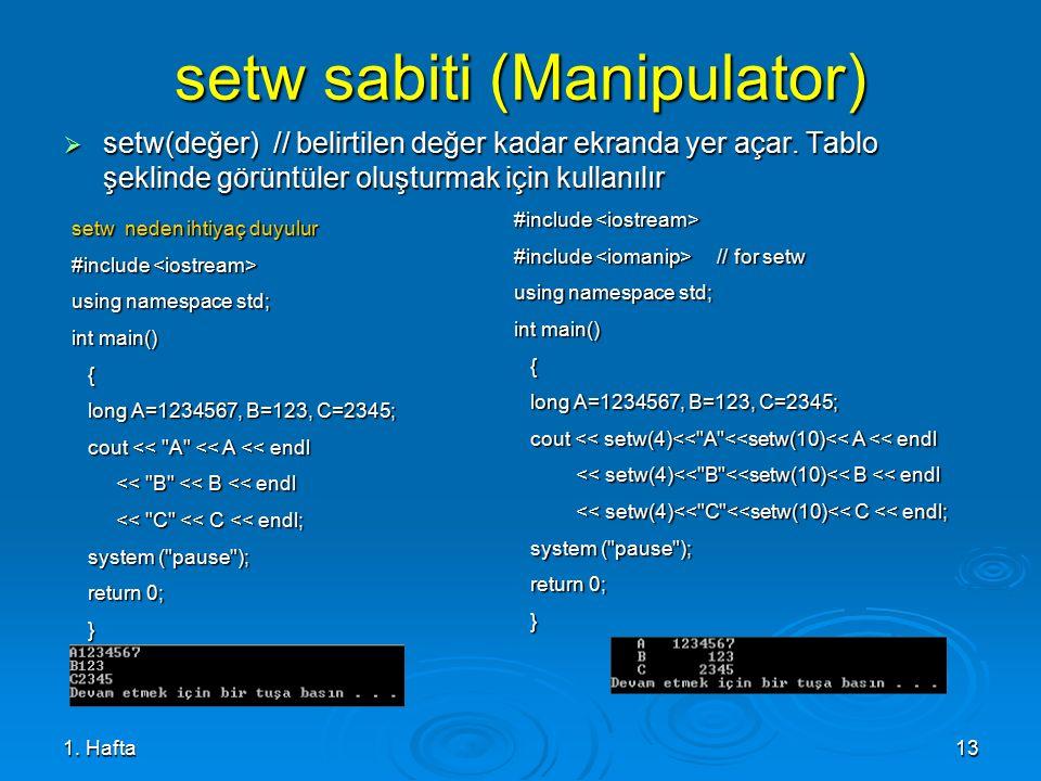 setw sabiti (Manipulator)
