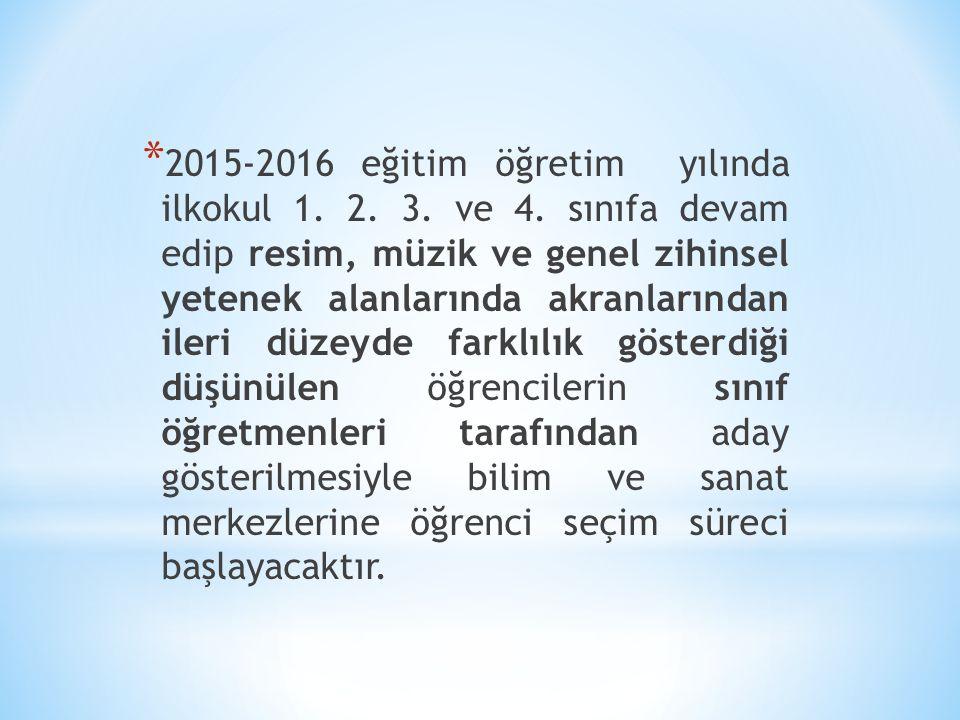 2015-2016 eğitim öğretim yılında ilkokul 1. 2. 3. ve 4