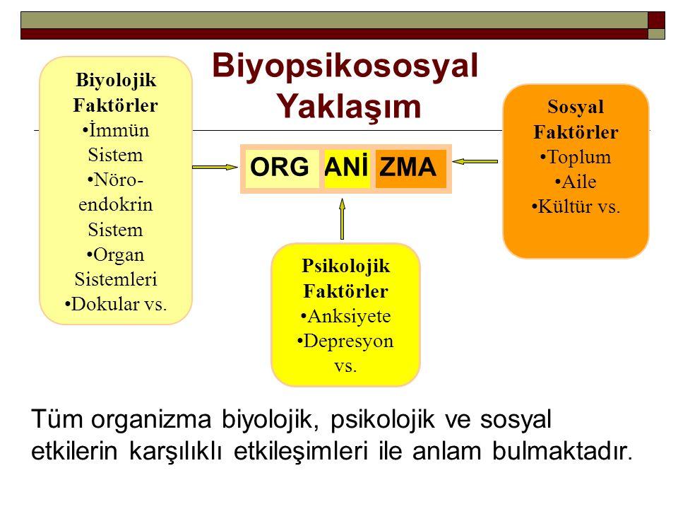 Biyopsikososyal Yaklaşım ORG ANİ ZMA
