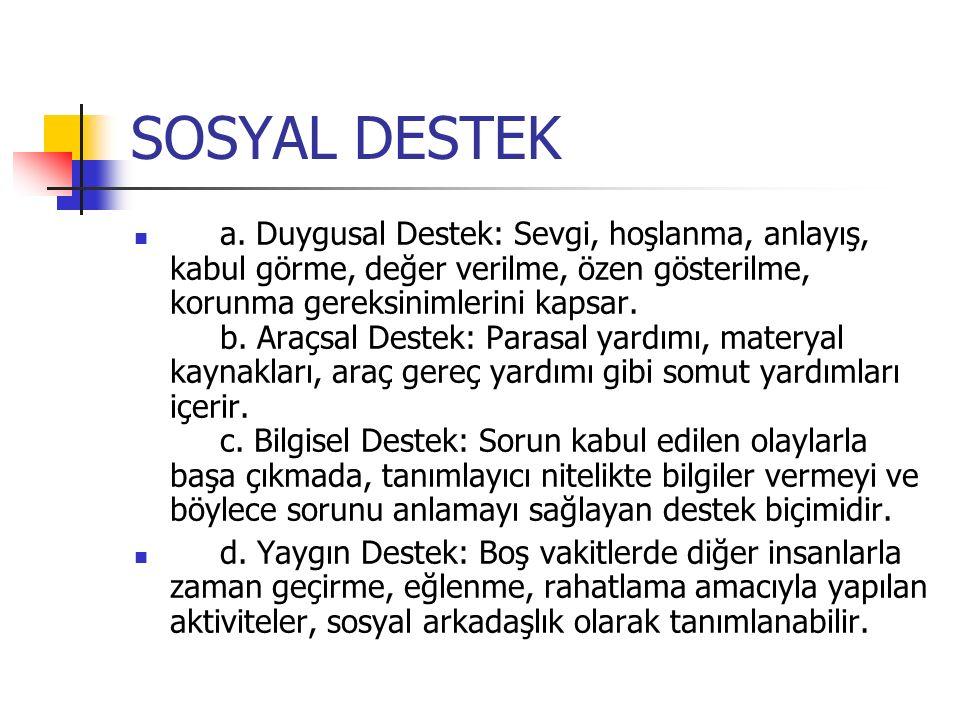SOSYAL DESTEK