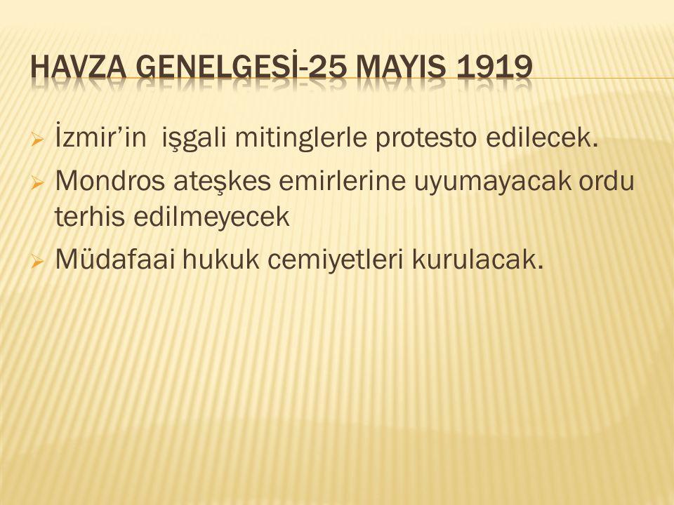 HAVZA GENELGESİ-25 MAYIS 1919
