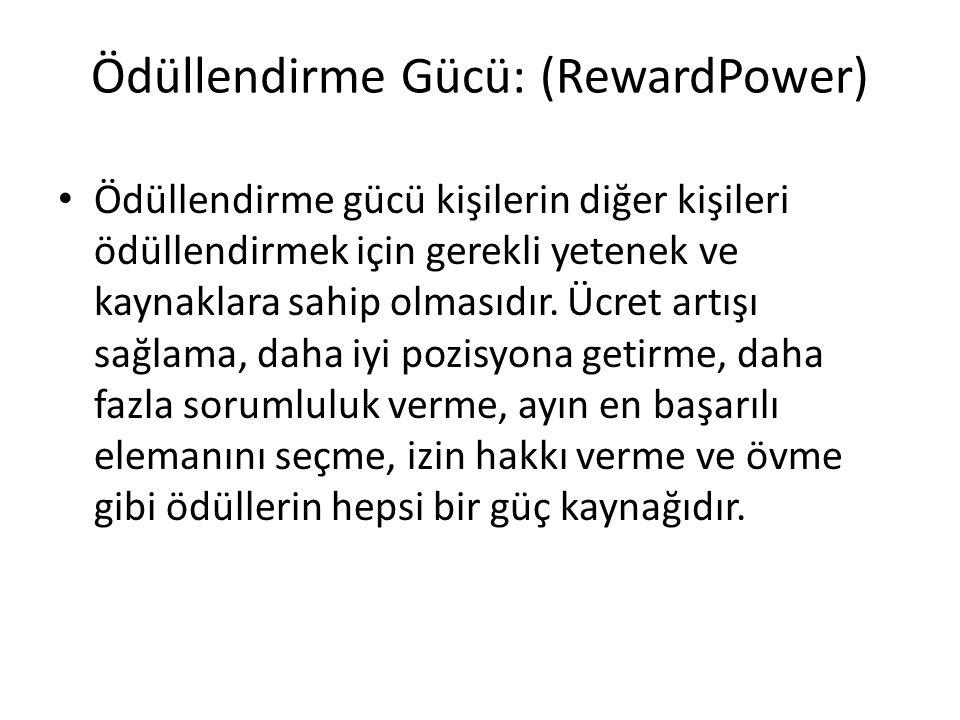 Ödüllendirme Gücü: (RewardPower)