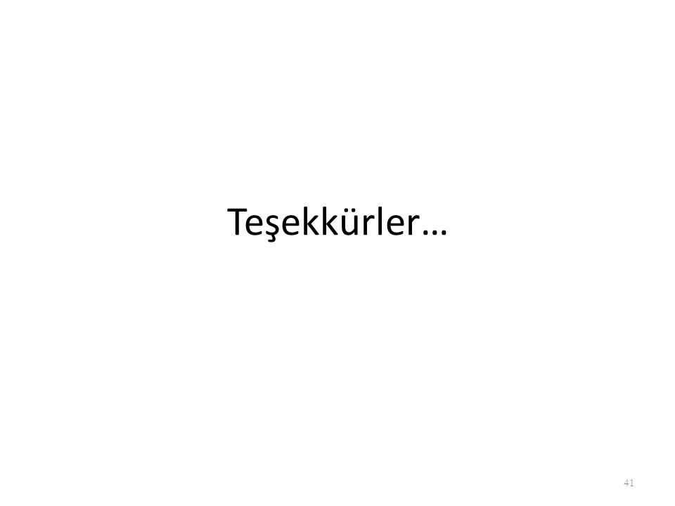 Teşekkürler…