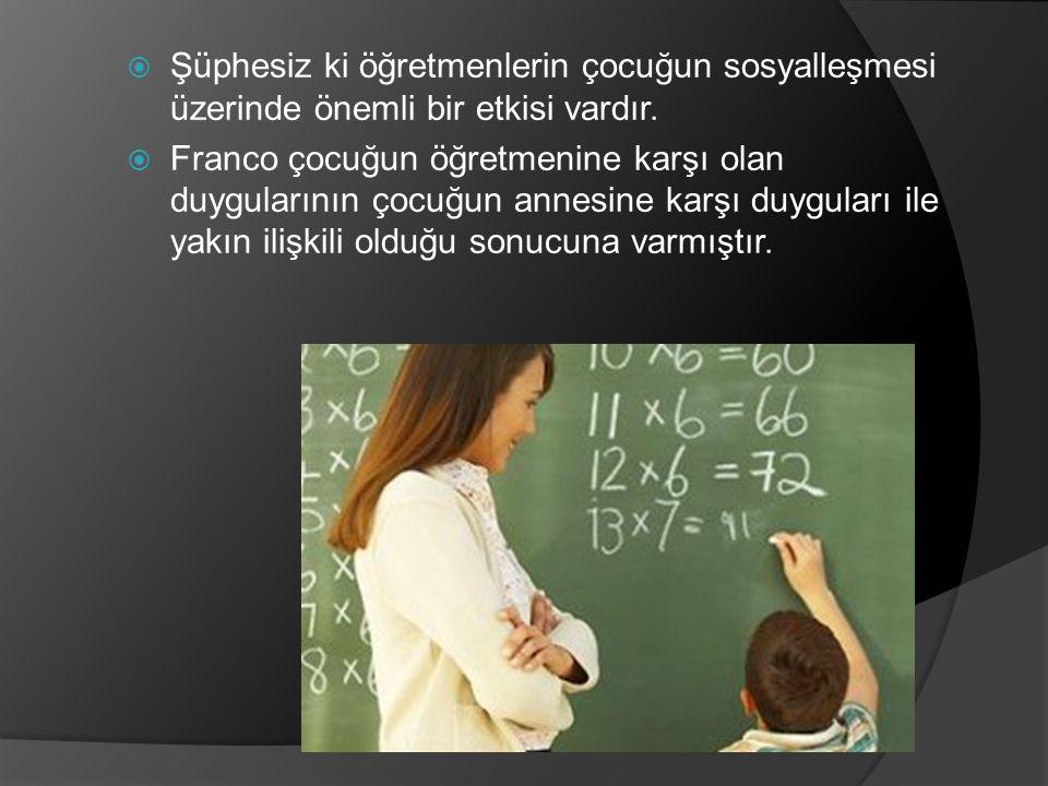 Şüphesiz ki öğretmenlerin çocuğun sosyalleşmesi üzerinde önemli bir etkisi vardır.