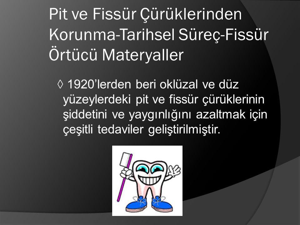 Pit ve Fissür Çürüklerinden Korunma-Tarihsel Süreç-Fissür Örtücü Materyaller