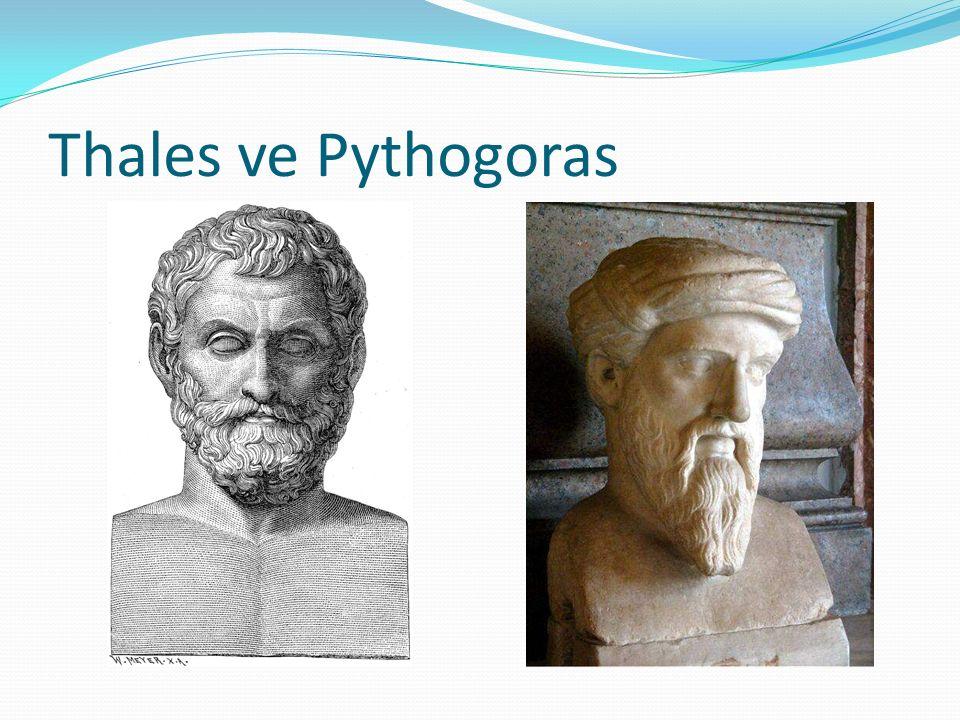 Thales ve Pythogoras