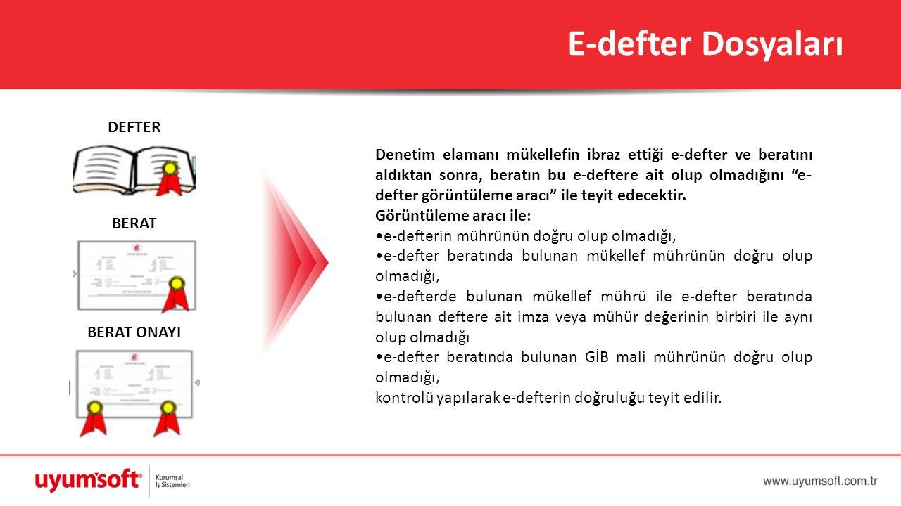 E-defter Dosyaları DEFTER