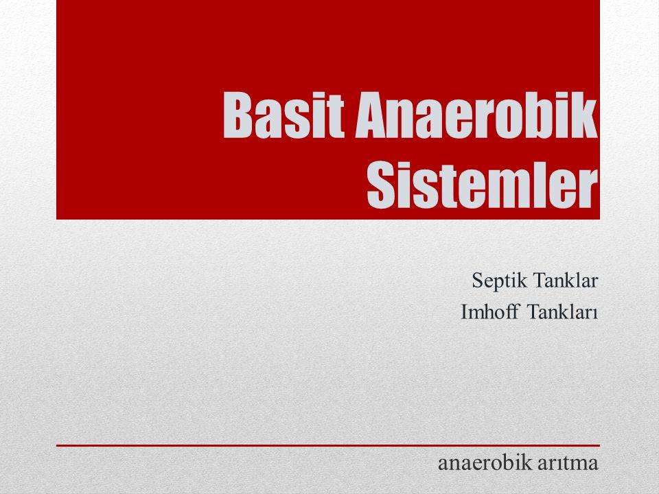 Basit Anaerobik Sistemler