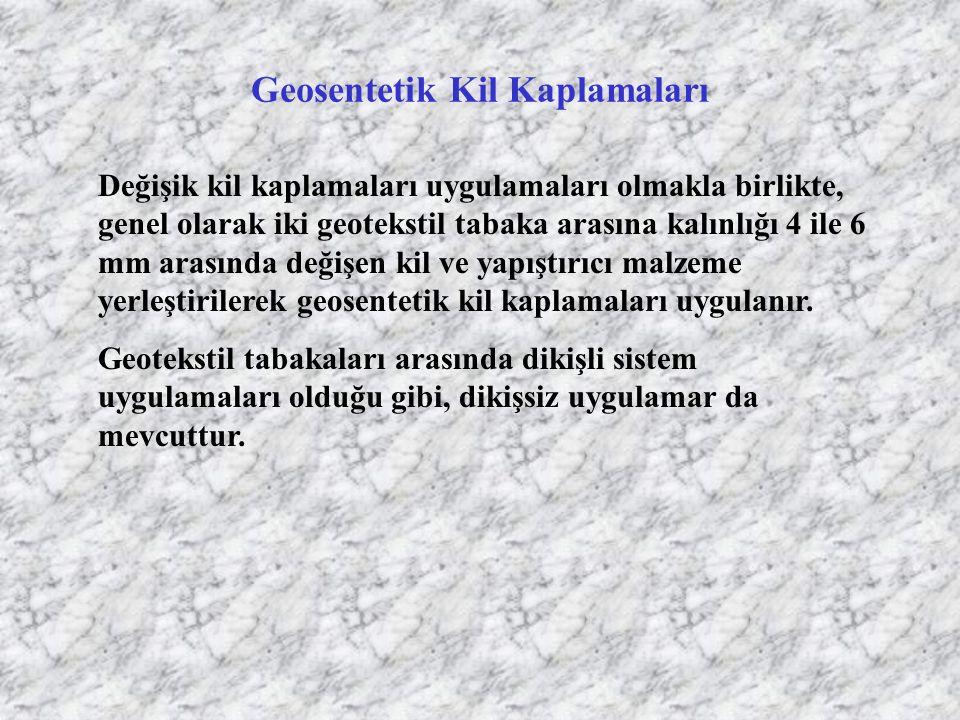 Geosentetik Kil Kaplamaları