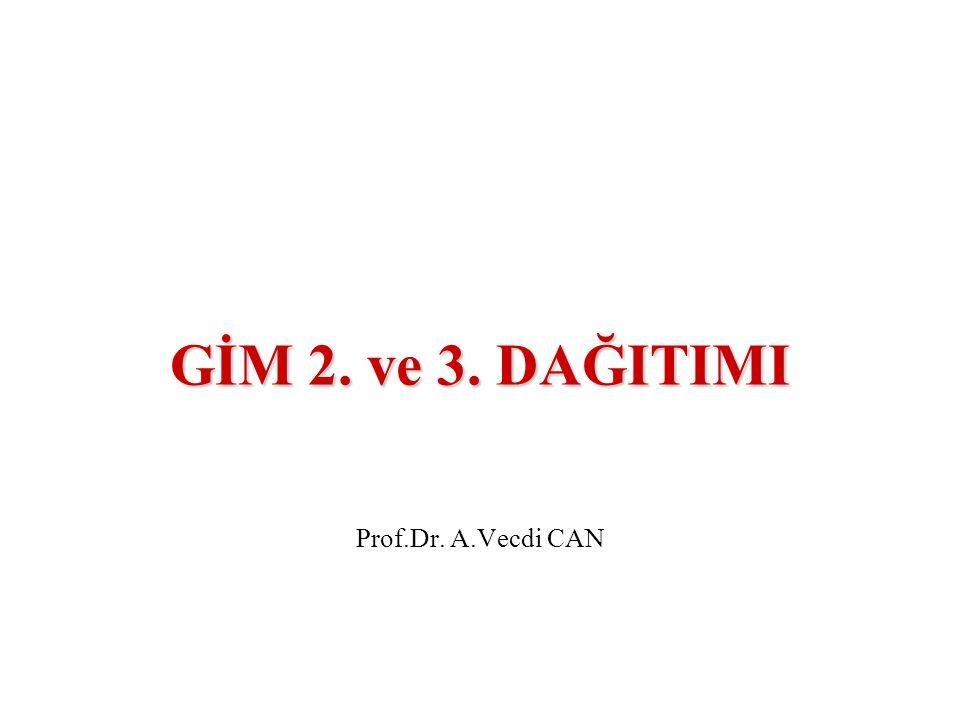 GİM 2. ve 3. DAĞITIMI Prof.Dr. A.Vecdi CAN