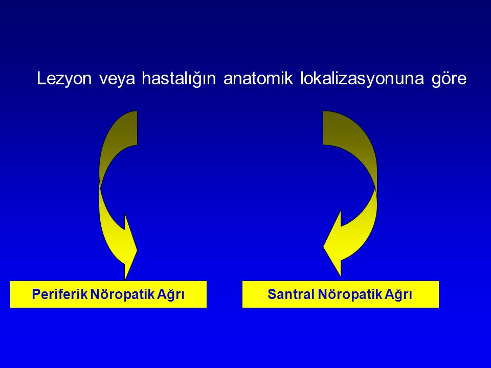 Periferik Nöropatik Ağrı Santral Nöropatik Ağrı