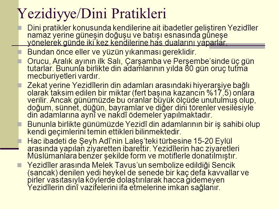 Yezidiyye/Dini Pratikleri