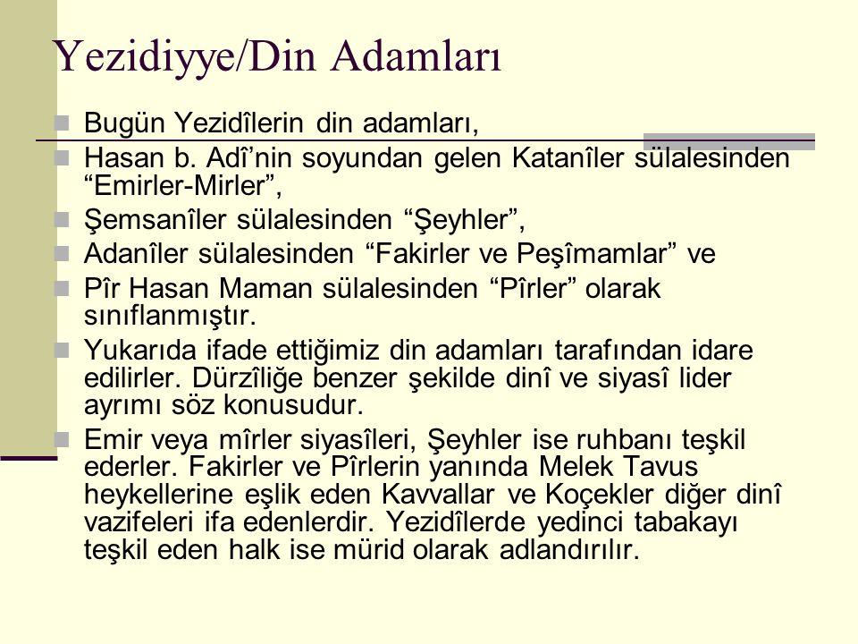 Yezidiyye/Din Adamları