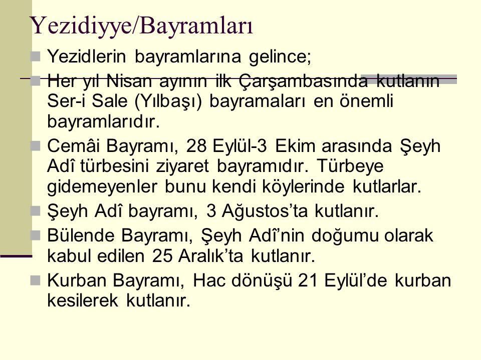 Yezidiyye/Bayramları