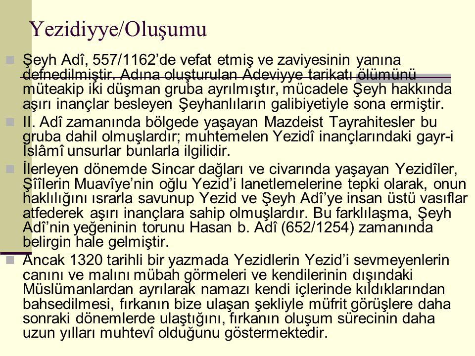 Yezidiyye/Oluşumu