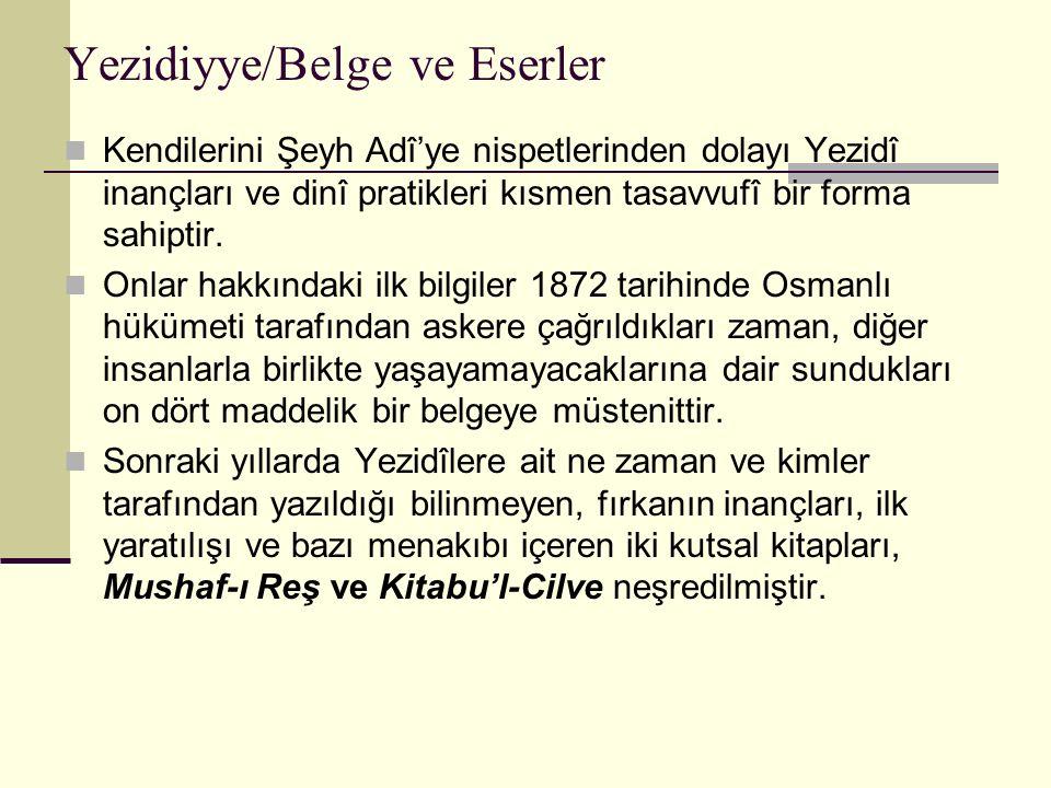 Yezidiyye/Belge ve Eserler