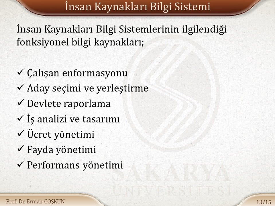 İnsan Kaynakları Bilgi Sistemi