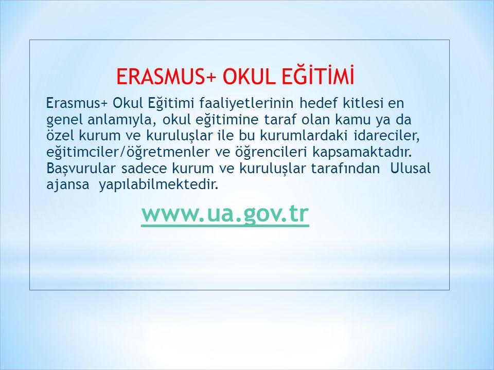 www.ua.gov.tr ERASMUS+ OKUL EĞİTİMİ