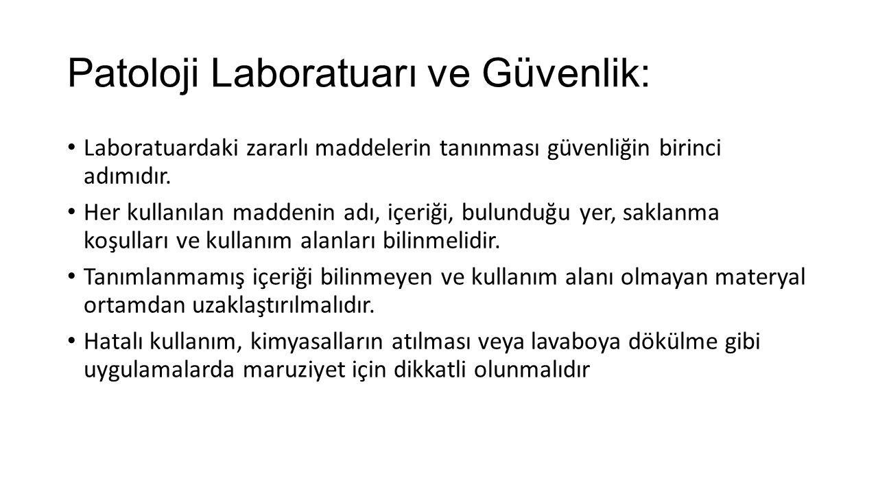 Patoloji Laboratuarı ve Güvenlik: