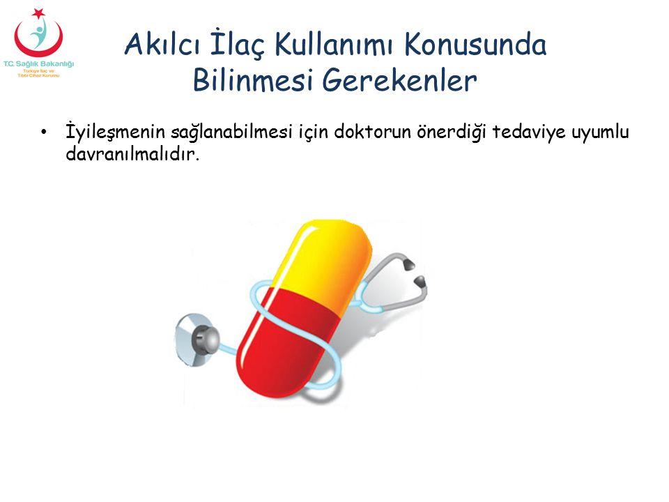 Akılcı İlaç Kullanımı Konusunda Bilinmesi Gerekenler