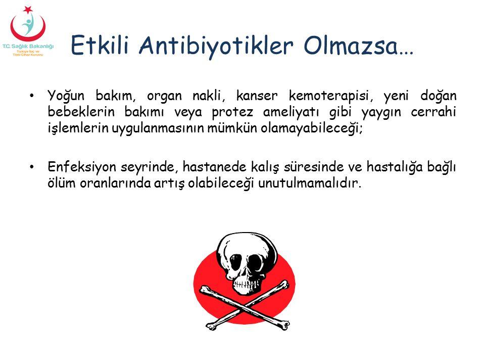 Etkili Antibiyotikler Olmazsa…