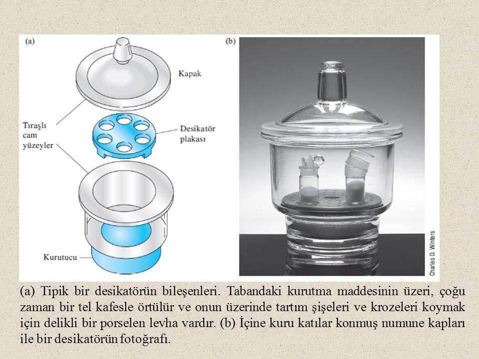 (a) Tipik bir desikatörün bileşenleri
